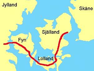 stora bält karta 350 år har gått stora bält karta